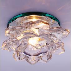 Светильник точечный встраиваемый Italmac Bohemia 220 16 70 G9 прозрачный 40 Вт