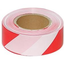 Лента для ограждения 75х200 красно-белая