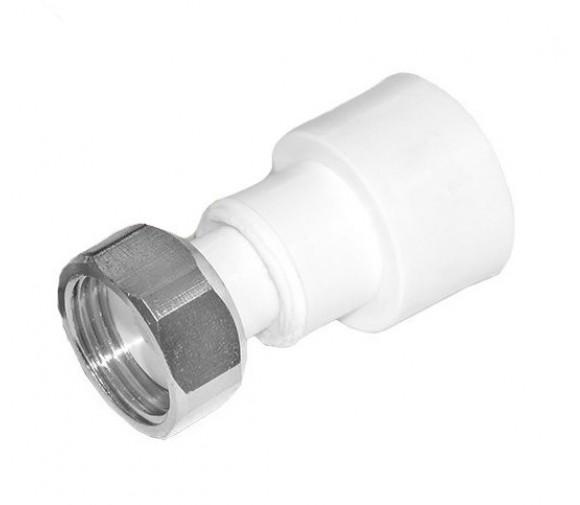Муфта с накидной гайкой PPRC FDplast  20 мм 1/2 дюйма с внутренней резьбой белая