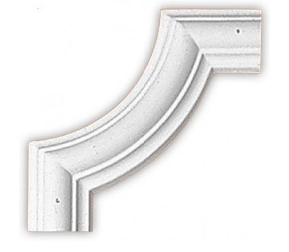 Угол декоративный для молдинга Decomaster 97010-8 190х190х18 мм