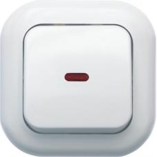 Выключатель Кунцево-Электро Валентина С16-068 одноклавишный с подсветкой белый