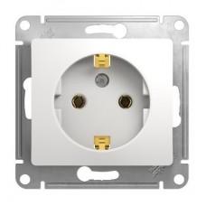 Механизм розетки Schneider Electric Glossa GSL000143 одноместный с заземлением белый