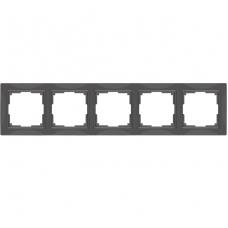 Рамка пятиместная Werkel Snabb Basic WL03-Frame-05 серо-коричневая