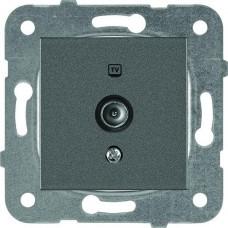 Механизм розетки телевизионной концевой Panasonic Karre Plus WKTT04512DG-RES одноместный темно-серый