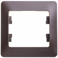 Рамка одноместная Schneider Electric Glossa GSL000801 шоколад