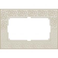 Рамка для двойной розетки Werkel Flock WL05-Frame-01-DBL-ivory Слоновая кость