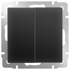 Механизм выключателя Werkel WL08-SW-2G-2W двухклавишный проходной черный матовый