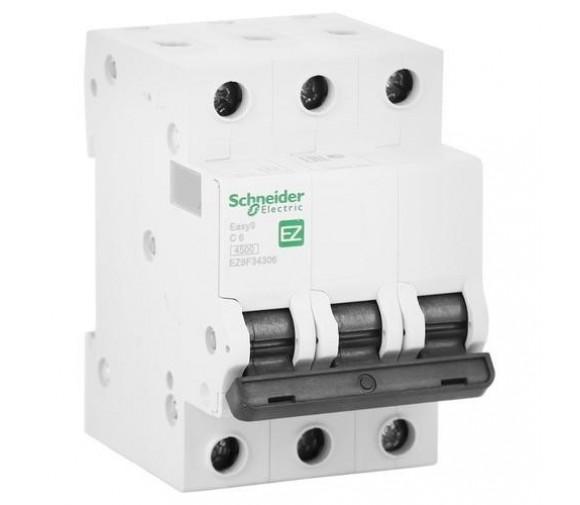 Автоматический выключатель Schneider Electric EASY 9 3П C 6А 4,5кА