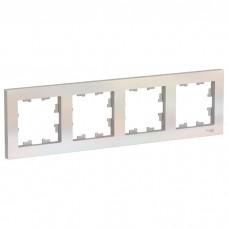Рамка четырехместная Schneider Electric AtlasDesign ATN000404 жемчуг
