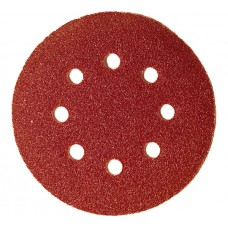 Круг абразивный для липучки ПЕРФО 8 отверстий Р150 125 мм