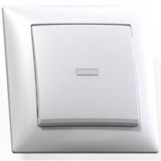 Выключатель Кунцево-Электро Селена С110-395 одноклавишный с подсветкой белый