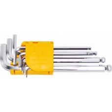 Набор ключей имбусовых Hex с шаром 9 шт. CR-V