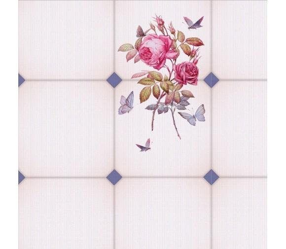 Стеновая панель ПВХ Кронапласт Unique Розовая роза фигурная 2700х250 мм