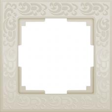 Рамка одноместная Werkel Flock WL05-Frame-01-ivory Слоновая кость