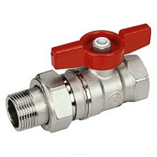 Кран шаровой Giacomini R259X004 стандартнопроходной латунный с отводом