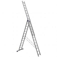 Лестница трехсекционная Алюмет 5313 3х13