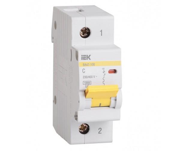 Автоматический выключатель IEK ВА47-100 1Р 63А С
