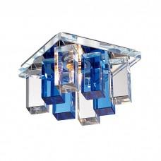 Светильник встраиваемый Novotech Caramel 2 369370 хром/прозрачно-голубой IP20 G9 40W 220V