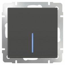 Механизм выключателя Werkel WL07-SW-1G-LED одноклавишный с индикатором серо-коричневый