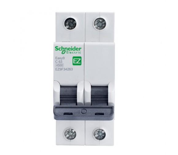 Автоматический выключатель Schneider Electric EASY 9 2П C 63А 4,5кА