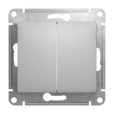 Механизм переключателя Schneider Electric Glossa GSL000365 двухклавишный алюминий