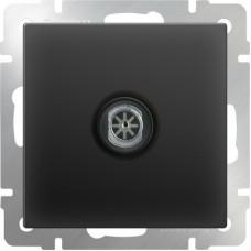 Механизм телевизионной розетки Werkel WL08-TV одноместный оконечной черный матовый