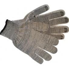 Перчатки рабочие утепленные полушерсть, ПВХ точка