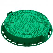 Люк садовый Standartpark Лого Л-60.80.10-ПП пластиковый зеленый