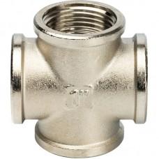 Крестовина Stout SFT-0031-000001 1 дюйм никелированная с внутренней резьбой