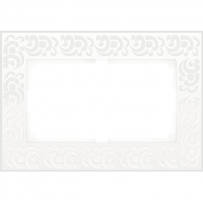 Рамка для двойной розетки Werkel Flock WL05-Frame-01-DBL-white белая