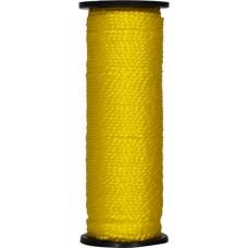 Нить капроновая на катушке 50 м жёлтая усиленная 0,44 ктекс; 45 кгс
