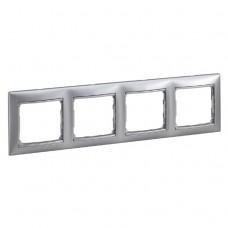Рамка четырехместная Legrand Valena 770154 горизонтальная алюминий