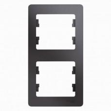 Рамка двухместная Schneider Electric Glossa GSL001306 графит