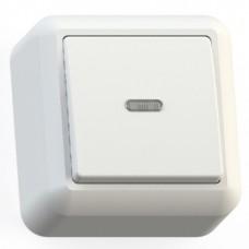 Выключатель Кунцево-Электро Оптима А110-386 одноклавишный с подсветкой белый