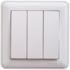 Выключатель Schneider Electric W59 VS0510-351-18 трехклавишный белый