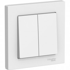 Выключатель Schneider Electric AtlasDesign ATN000152 двухклавишный белый